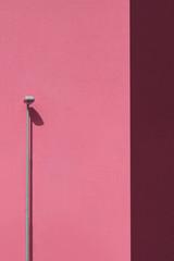 Pink lamp post