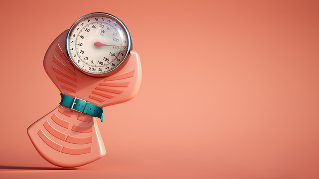 Weight scale diet red