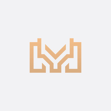 Premium Initial YM Logo - Vector logo template