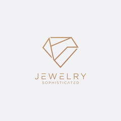 Sophisticated Jewelry Logo - Vector logo template