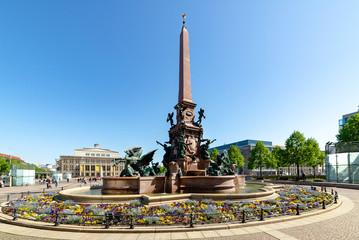 Leipzig, Augustusplatz, Mendebrunnen, Innenstadt