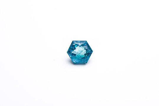 Hexagon Shape Aquamarine gemstone
