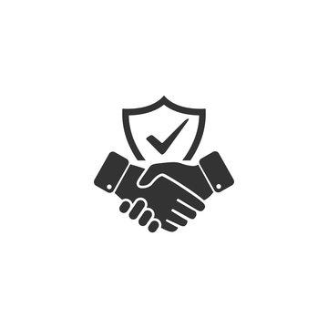 Trust icon in simple design. Vector illustration