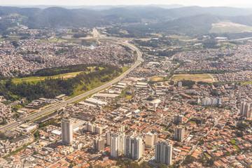 Neighborhood of Guarulhos,  Sao Paulo, Brazil. Top View