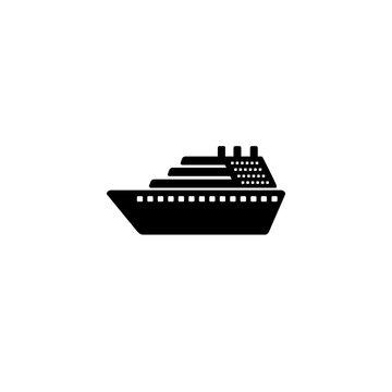 Ship icon vector. Cruise ship symbol icon illustration