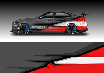 Car wrap designs vector . Background graphic . File ready to print and editable . Eps 10 Wall mural