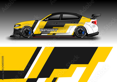 Livery decal car vector , supercar, rally, drift   Graphic abstract