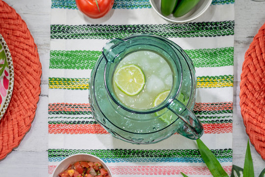 Cold refreshing pitcher of margaritas to celebrate Cinco de Mayo