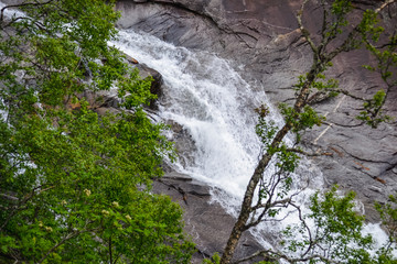 Trolltunga hike, Lake Ringedalsvatnet, Norway, Beautiful scandinavian landscape, Scandianavia, summer nature. Hike starts from Odda town