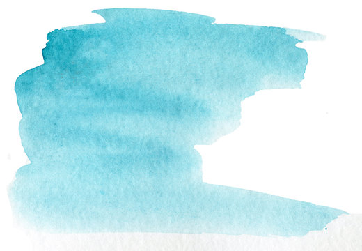 watercolor stain on white paper. Isolated element for design. hand-drawn texture on paper