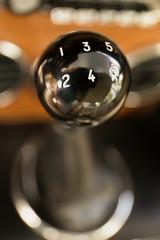 Close up of vintage Ferrari gear shift