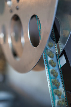 Close up of film and reel