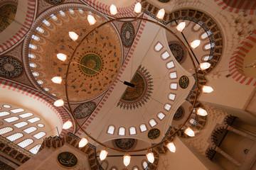 Chandelier in Blue Mosque, Istanbul, Turkey