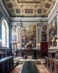 Ornate room in Stock Exchange Palace, Porto. Porto, Portugal