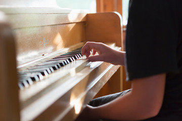 13 year old girl playing piano