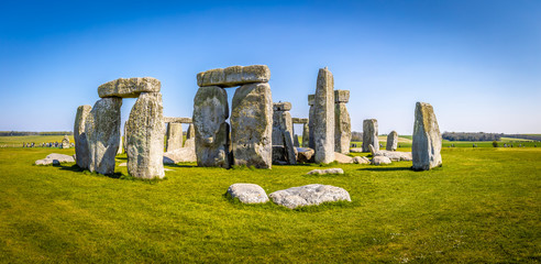 View of Stonehenge in summer, England