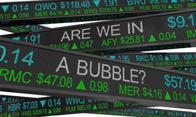 Are We in a Bubble Stock Market Inflated Values 3d Illustration