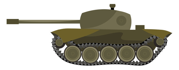 A heavy tank vector or color illustration