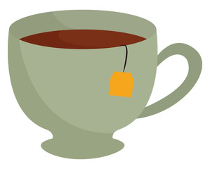 Tea cup vector or color illustration