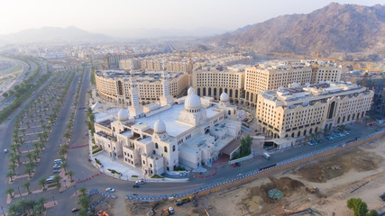 a white mosque in mecca