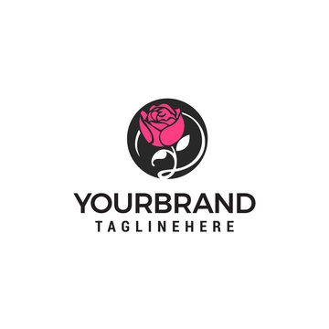 Flower spa cosmetic logo design concept template vector