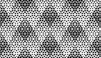 Foto op Canvas Geometrisch Abstract geometric pattern. Seamless vector background. White and black halftone. Graphic modern pattern. Simple lattice graphic design