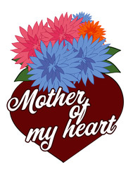 Mother of My Heart with Chrysanthemums