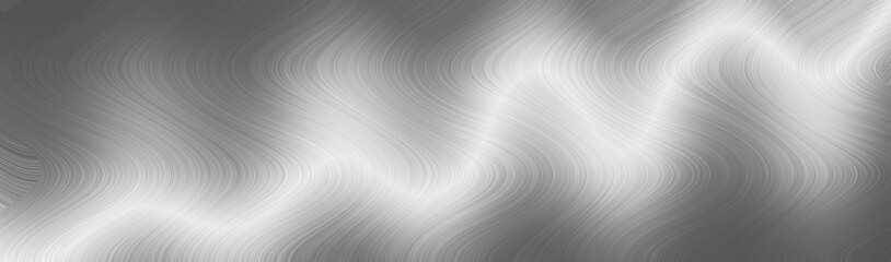 Brushed gray metal surface. Texture of metal. Abstract steel background. Panoramic image