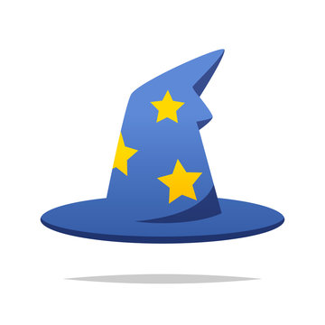Wizard hat vector isolated illustration