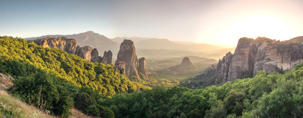 In de dag Honing Rousanou Monastery in Meteora, Greece