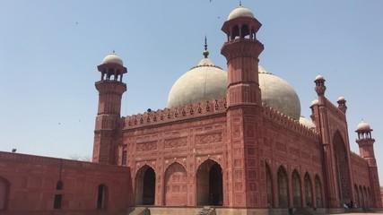 Stock Video of Hall way path way inside badshahi mosque lahore