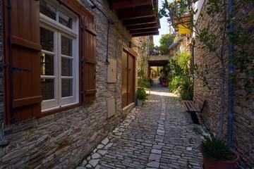 Fototapeta Uliczki w starych miasteczkach na Cyprze obraz