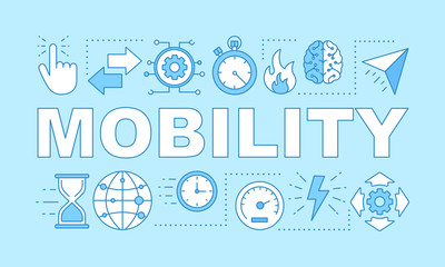 Mobility advantage word concepts banner