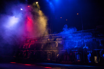 Theater light on stage