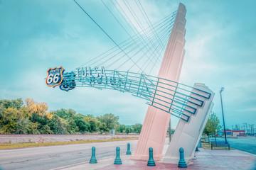 Fotobehang Route 66 Route 66 sign, Tulsa Oklahoma