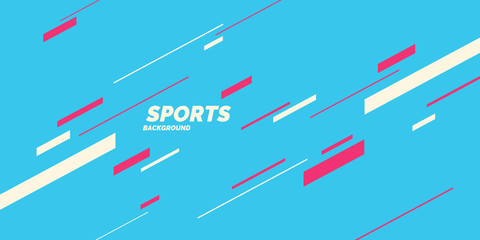 Modern colored poster for sports. Vector graphics Fotomurales