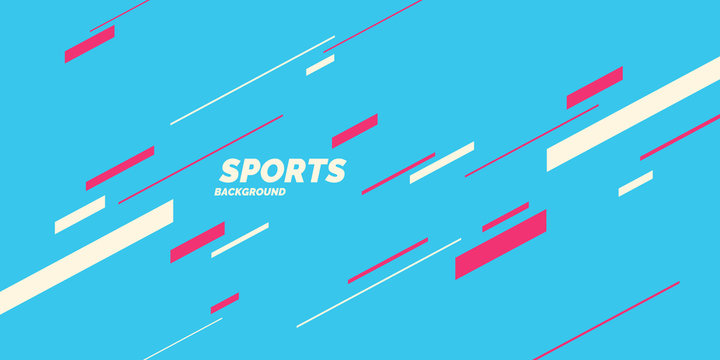 Modern colored poster for sports. Vector graphics