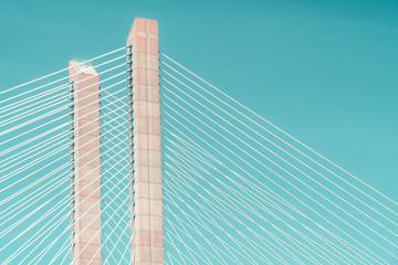 Architectural Details Of 25 de Abril Bridge (25th April Bridge) In Lisbon Portugal