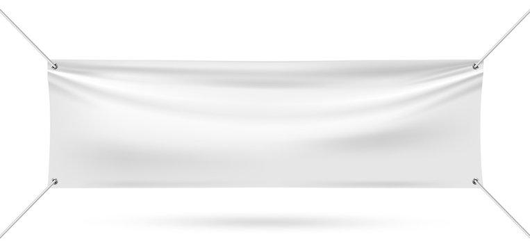 Mock up vinyl banner on white background vector illustration