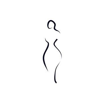 woman shape icon vector illustration