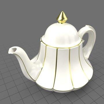 Vintage bell shaped teapot
