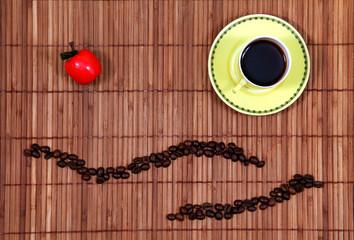La tasse à café jaune