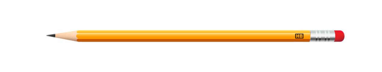 Карандаш желтого цвета в реалистичном стиле для различных веб сайтов