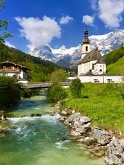 Pfarrkirche St. Sebastian in Ramsau b. Berchtesgaden (Bayern)