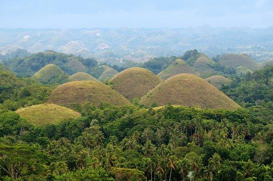 Chocolate Hills in Carmen, Bohol Island, Southeast Asia, Philippines, Asia