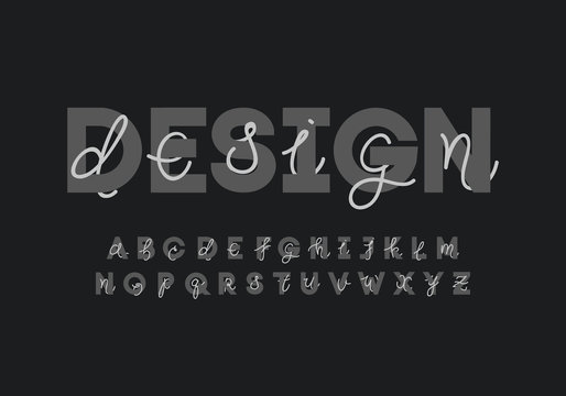 Creative alphabet font design. Eps10 vector.