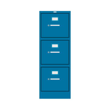 File cabinet vector icon furniture interior management finance catalog library binder. Database metal case office. Datum archive