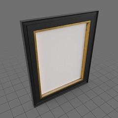 Black and gold vertical frame