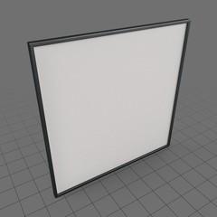 Black thin square frame