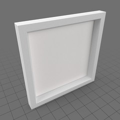 White thick square frame